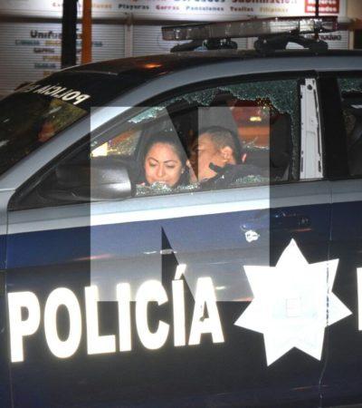 RAFAGUEAN PATRULLA DE POLICÍAS ESTATALES EN CANCÚN: Saldo preliminar de un herido en ataque en las Avenidas Kinik con Andrés Quintana Roo