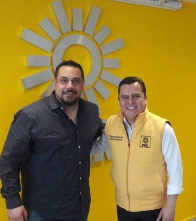 En busca de candidatura a la Alcaldía por Cancún, 'El Cachorro' se reúne con líder nacional del PRD