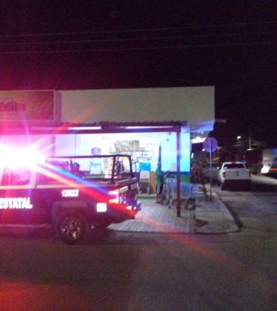 Sujetos roban en dos farmacias y en una tienda de abarrotes en Chetumal