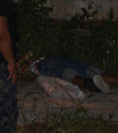 TERCER EJECUTADO DEL DÍA EN CANCÚN: Hallan cadáver de menor de edad junto a narcomanta en el fraccionamiento Paseos Las Palmas de la Región 259; sumarían 29 casos en 26 días de enero