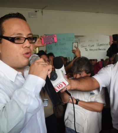 En Cancún tienen secuestrado al PRI, dice Jorge Meza; le niegan su registro