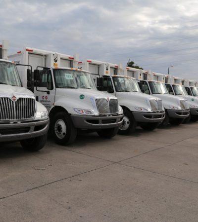 Entrega Alcalde 20 nuevas unidades para la recolección de la basura en Cancún
