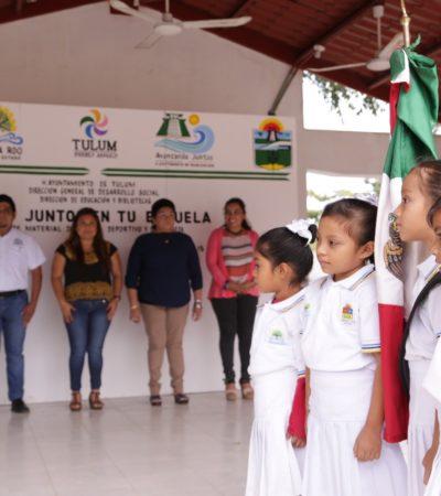 Reinicia Alcaldesa el programa 'Avanzando Juntos en tu Escuela' en Tulum