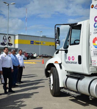 Empresa de ex Alcalde se queda con el negocio de la recolecta de basura en Cancún; confirma Remberto Estrada que 'Intelligencia México' realizará esa labor por los próximos años
