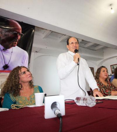 Anuncia padre Solalinde construcción de Centro de Ayuda para Migrantes en Cancún, dentro de un terreno donado por la senadora Beristain