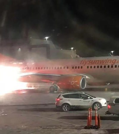 Avión que despegó de Cancún choca en aeropuerto de Toronto y provoca incendio sin víctimas