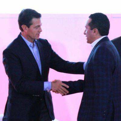 Asiste Carlos Joaquín como invitado especial a la XXII Conferencia Latinoamericana de Banco Santander que inauguró Peña Nieto en Cancún