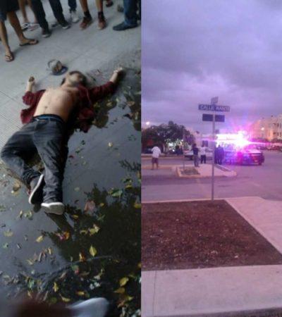 NO PARA LA VIOLENCIA EN CANCÚN: Ejecutan a un hombre en la Región 96 y balean a otro policía en la Región 251