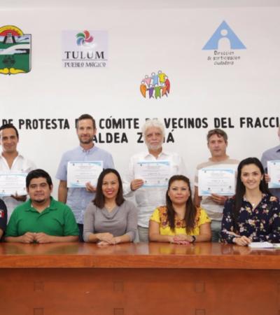 Rinde protesta el Comité de Vecinos de 'Aldea Zamá' en Tulum