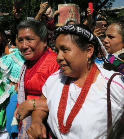 Ataca grupo armado en Michoacán el convoy de 'Marichuy', la candidata indígena a la Presidencia