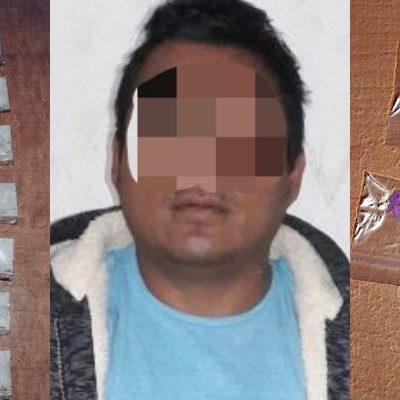 Detienen a narcomenudista con 45 dosis de enervantes en Cancún