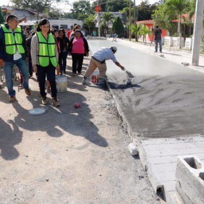 Supervisa Alcaldesa obras en Leona Vicario