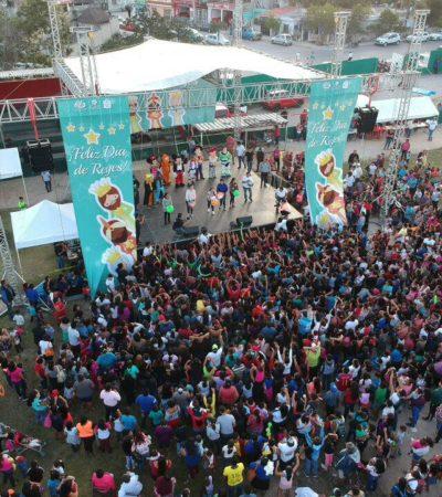 Realizan 'Festival de Día de Reyes' en Tulum