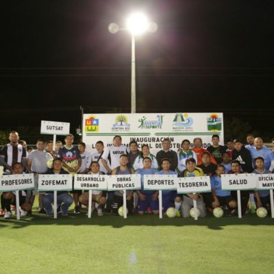 Inauguración de la 'Liga Intermunicipal de Fútbol' en Tulum