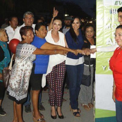 Inauguran alumbrado público en las colonias Zetina Gasca y 23 de Enero