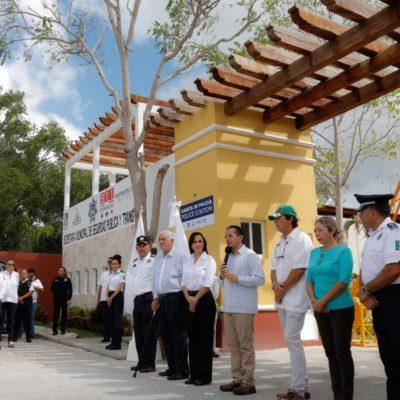 Inauguran caseta de vigilancia en Bahía Petempich