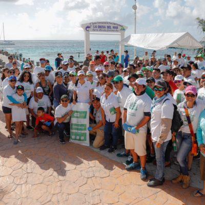 Se suma Puerto Morelos a jornada nacional de limpieza que organiza Semarnat
