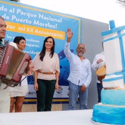 Celebran aniversario del Parque Nacional Arrecife de Puerto Morelos