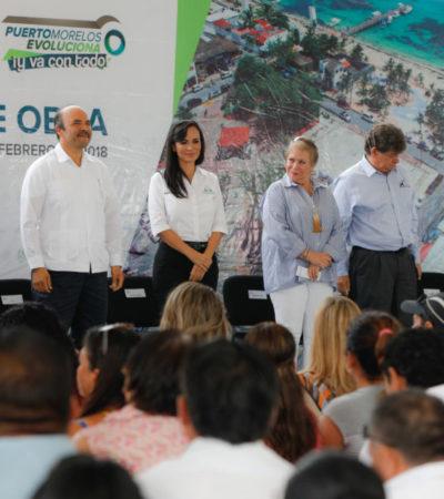 Con inversión de 20 mdp, Alcaldesa pone en marcha obra de electrificación subterránea en el casco antiguo de Puerto Morelos