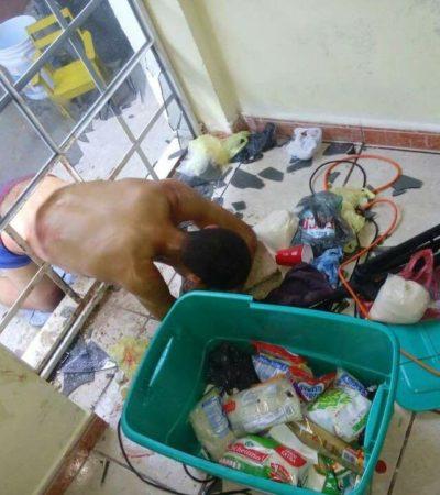 Ladrón queda atrapado en puerta de iglesia en Chetumal