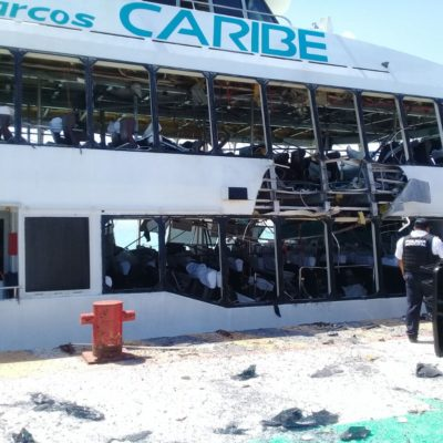 """""""FUIMOS NOSOTROS"""": En presunta narcomanta se atribuyen explosión en barco y lanzan amenazas contra alcaldesa de Cozumel"""
