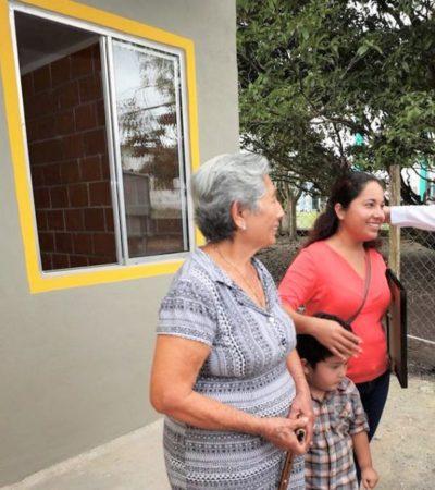 Entrega Gobernador paquete de 154 casas a familias de zonas rurales del sur de Quintana Roo