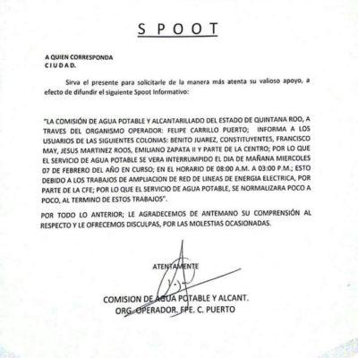 AVISO | CAPA dejará sin agua a Felipe Carrillo Puerto durante 7 horas el miércoles