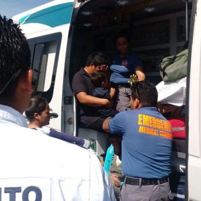 Choca combi y deja nueve lesionados en Playa