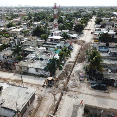 TIENE CANCÚN HERIDAS ABIERTAS: Piden vecinos acelerar obras y cerrar calles por construcción de drenajes y pozos de absorción