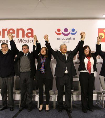 Incorpora AMLO a Marcelo Ebrard, Ricardo Monreal y Julio Scherer Ibarra a equipo de defensa del voto
