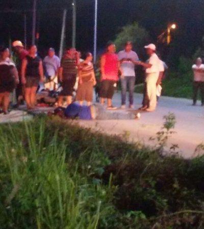 Fatal accidente entre una moto y una bicicleta deja como saldo dos personas muertas y otra más gravemente herida