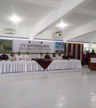 Festejan al Ejército Mexicano por 105 aniversario