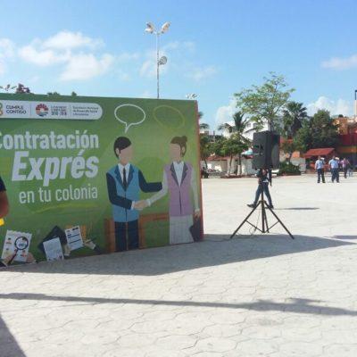 Lanzan en Las Palapas oferta de empleos para cancunenses
