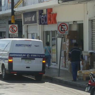 Inspeccionan federales empresas de paquetería de Chetumal
