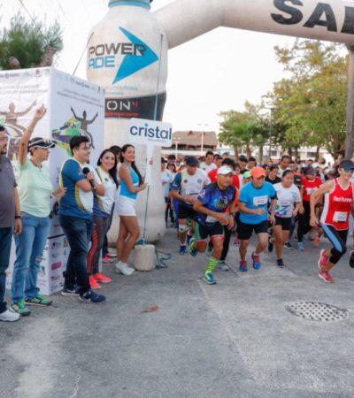 Con 300 atletas se llevó a cabo este domingo carrera promovida por la Policía Federal en Puerto Morelos