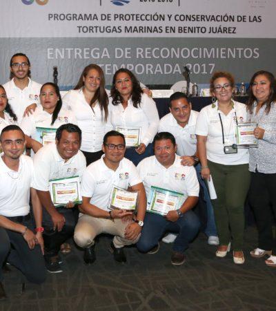 Reconoce Alcalde esfuerzos de sociedad en preservación de tortugas marinas en Cancún