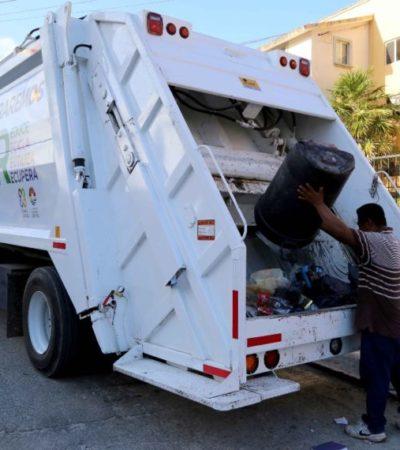 Garantiza Remberto prestación del servicio de recolección de basura en Cancún