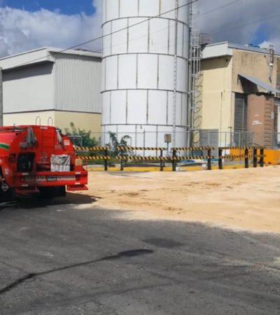 INEDITO   'HUACHICOLEAN' EN LAS NARICES DE LA POLICÍA: Roban combustible de gasolinera frente a Fiscalía y Seguridad Pública en Cancún