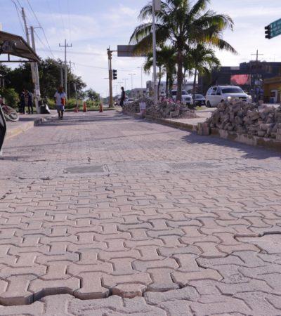 Avanza remodelación de la Avenida Tulum