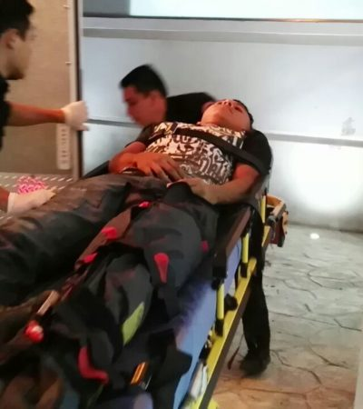 Choque en Zona Hotelera deja dos heridos