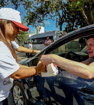 Se suma Alcaldesa a la Colecta Nacional de Cruz Roja en Tulum