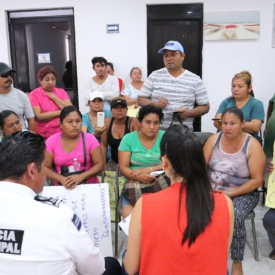 Se reúnen funcionarios de Tulum con invasores que denunciaron abusos de autoridades ministeriales