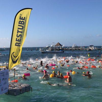 Realizan en Puerto Morelos la XIII edición del Maratón de Aguas Abiertas 'Ruta del Arrecife'