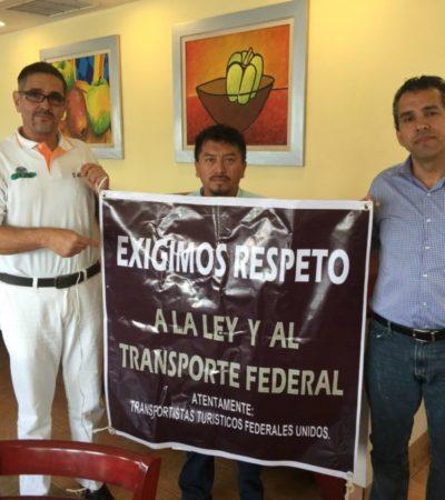ALISTAN 'MEGA MARCHA' EN CANCÚN: Exigen transportistas respeto a la ley