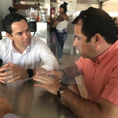 NEGOCIACIÓN EN CIERNES EN CANCÚN: En el 'Día del Amor y la Amistad', se reúne José Luis 'Chanito' Toledo con el dirigente del PRD en Quintana Roo, Jorge Carlos Aguilar Osorio, y con Julián Ricalde