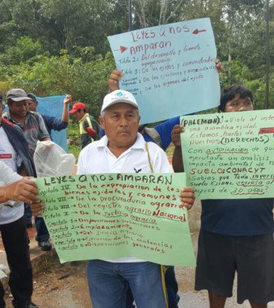 Ejidatarios bloquean obra de universidad en José María Morelos