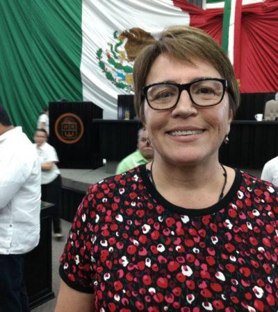 Dice Laura Beristaín que no le preocupa la impugnación de su eventual candidatura