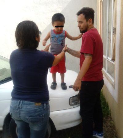 Rescatan a niño golpeado en Misión de las Flores en Playa del Carmen