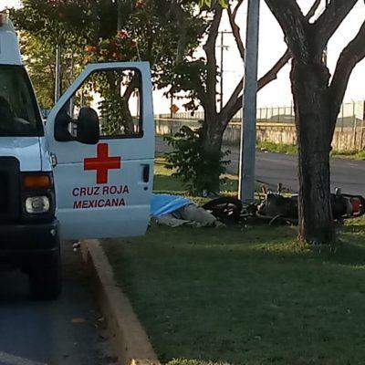 Muere motociclista al estrellarse en Chetumal