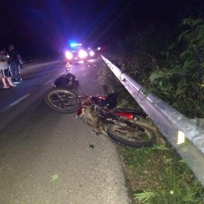 Derrapa y muere motociclista en la vía Felipe Carrillo Puerto-Muna